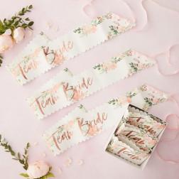 Schärpen Team Bride Floral Hen Party 6 Stück