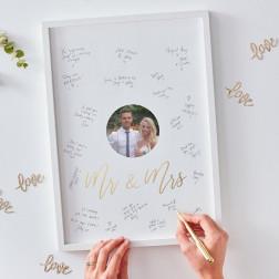 Mr & Mrs Alternative Guest Book Frame