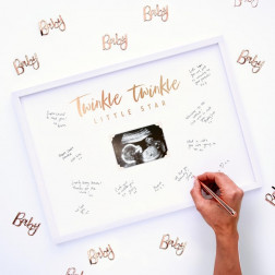 Bilderrahmen Gästebuch Baby Twinkle