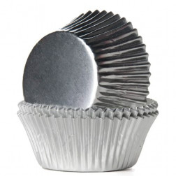Baking Cups Folie Silber 24/Pkg