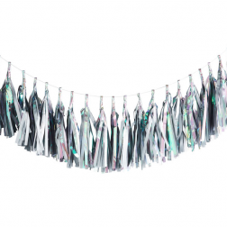 Tassel 20 Quastengirlande silber Iridescent 3m