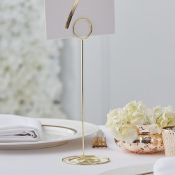 Gold Metal Table Number Holder