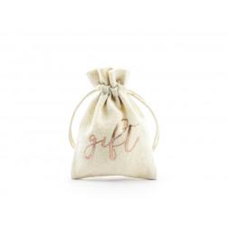 Tüte Baumwolle Gift rosegold 7.5x10cm 10 Stück