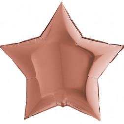 Folienballon Stern Rosegold 91cm