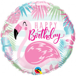 Folienballon Flamingo Happy Birthday 45cm