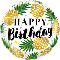 Folienballon Birthday Pineapples 46cm