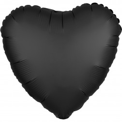 Folienballon Satin Luxe Black 43cm
