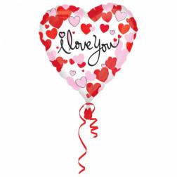 Folienballon Herzen I Love you 43cm
