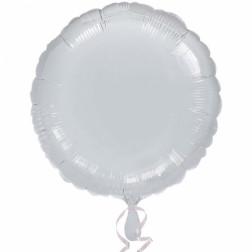 Folienballon Rund silber 43cm