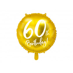 Folienballon 60th Birthday 45cm