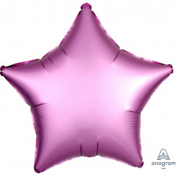 Folienballon Stern Satin Rosa 48cm