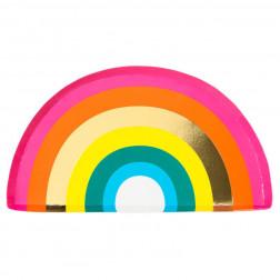 Rainbow Pappteller 12 Stück