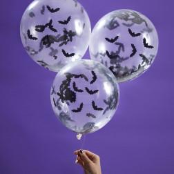 Luftballons Fledermaus 5 Stück