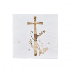 Servietten Kreuz gold 20 Stück