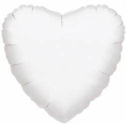 Jumbo Folienballon Herz weiß 90cm