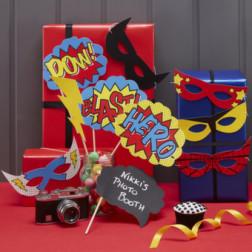 Photo Booth Props Superhero 10 Stück