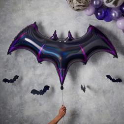 Folienballon Bat Black Halloween - Let's Get Batty 130cm