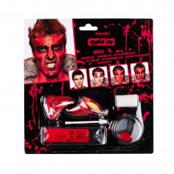Schminke Set Make-up Teufel 8-teilig