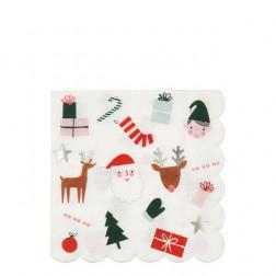Servietten Christmas Festive Icons 16 Stück