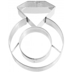 Ausstechform Diamant Ring 7cm