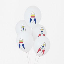 Luftballons Weltraum 5 Stück