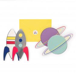 Einladungskarten Cosmo 8 Stück