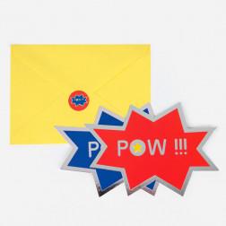 Einladungskarten Superhero 8 Stück