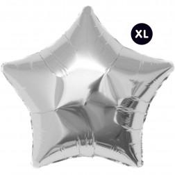 Folienballon Jumbo Stern silber 86cm