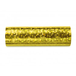 Luftschlangen Holographic gold 18 Ringe