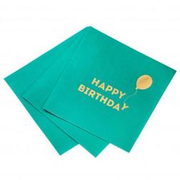 Cocktail Servietten Happy Birthday bright 16 Stück