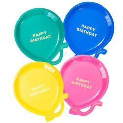Happy Birthday Balloons Bright 12 Teller