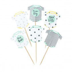 Cupcake Toppers Born To Be Loved Cake Toppers 12 Stück
