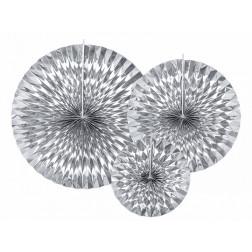 Fächer Silber 3 Stück