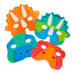 Dino Masken 8 Stück