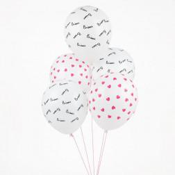 Luftballons Bisou 5 Stück