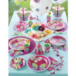 Partybox für 8 Gäste Schmetterlinge