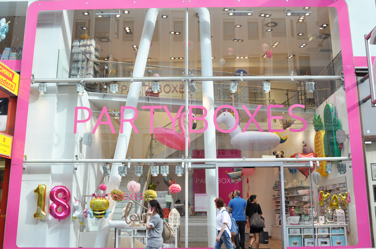 Partyboxes Flagshipstore Mariahilfer Strasse 49